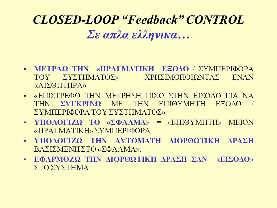 CLOSED-LOOP Feedback CONTROL Σε απλα ελληνικα…
