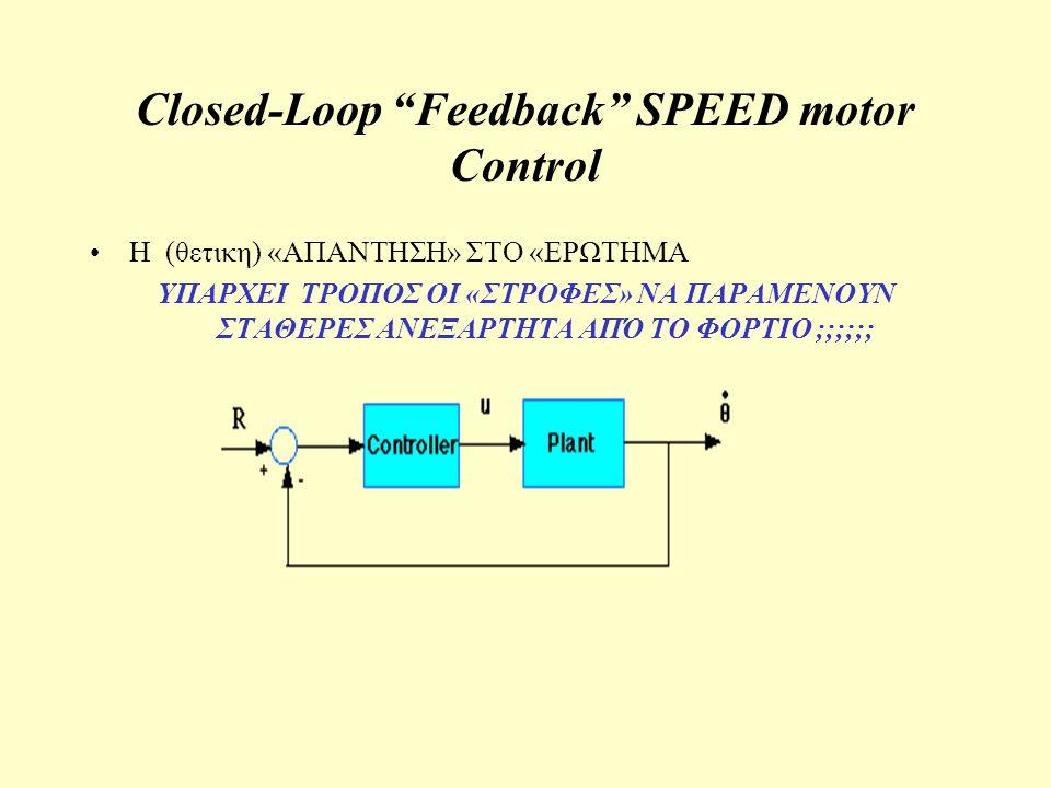 Closed-Loop Feedback SPEED motor Control