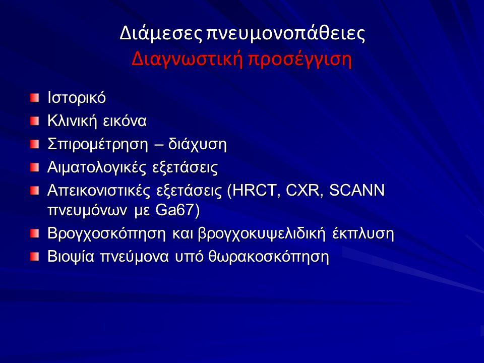 Διάμεσες πνευμονοπάθειες Διαγνωστική προσέγγιση