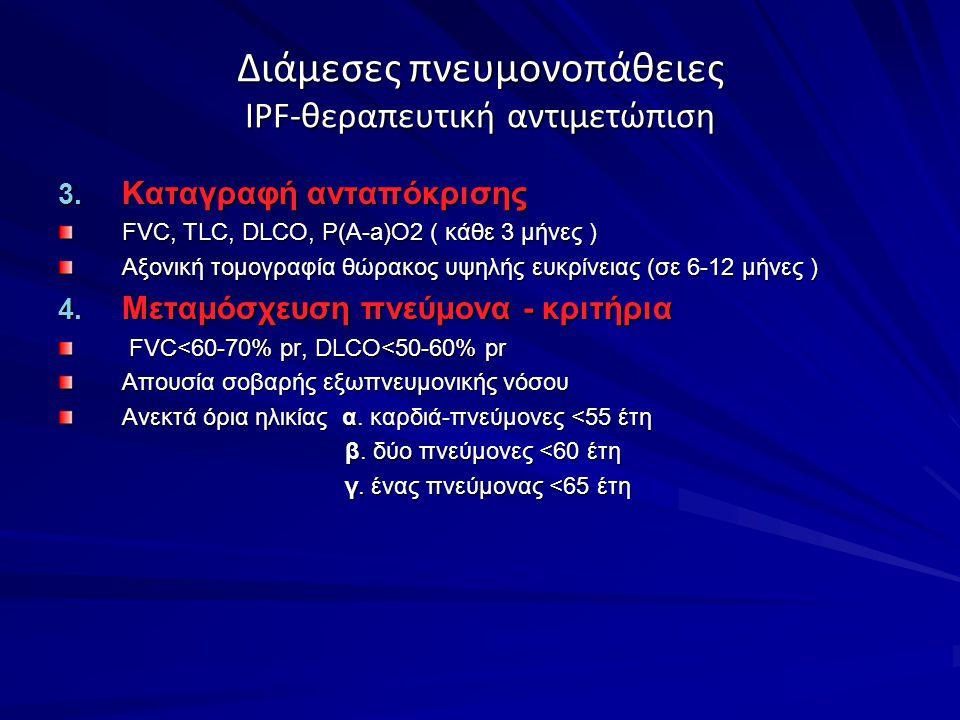 Διάμεσες πνευμονοπάθειες IPF-θεραπευτική αντιμετώπιση