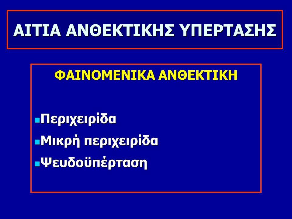 ΑΙΤΙΑ ΑΝΘΕΚΤΙΚΗΣ ΥΠΕΡΤΑΣΗΣ