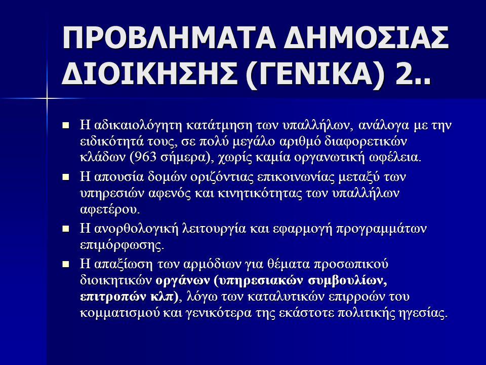 ΠΡΟΒΛΗΜΑΤΑ ΔΗΜΟΣΙΑΣ ΔΙΟΙΚΗΣΗΣ (ΓΕΝΙΚΑ) 2..