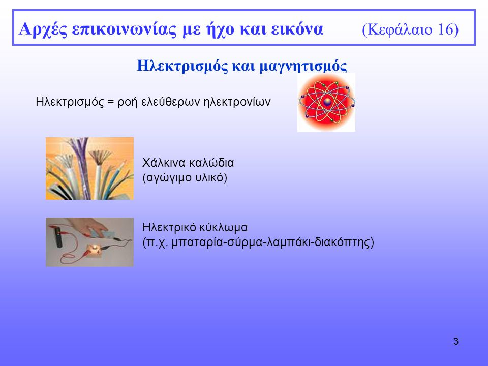Αρχές επικοινωνίας με ήχο και εικόνα (Κεφάλαιο 16)