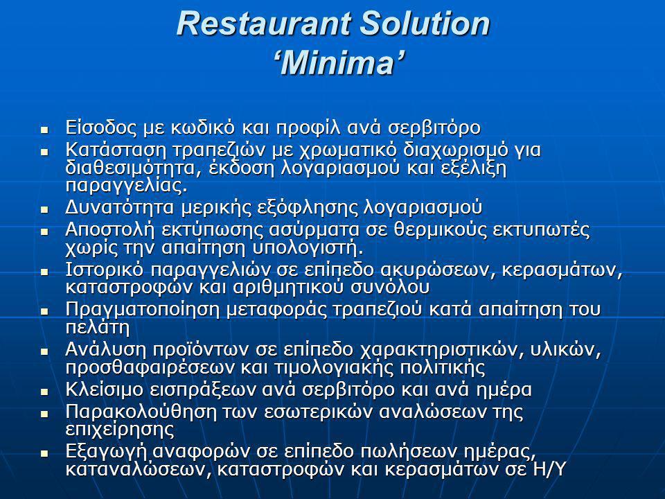 Restaurant Solution 'Minima'