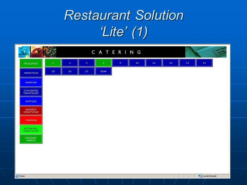 Restaurant Solution 'Lite' (1)