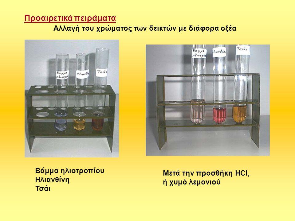 Προαιρετικά πειράματα