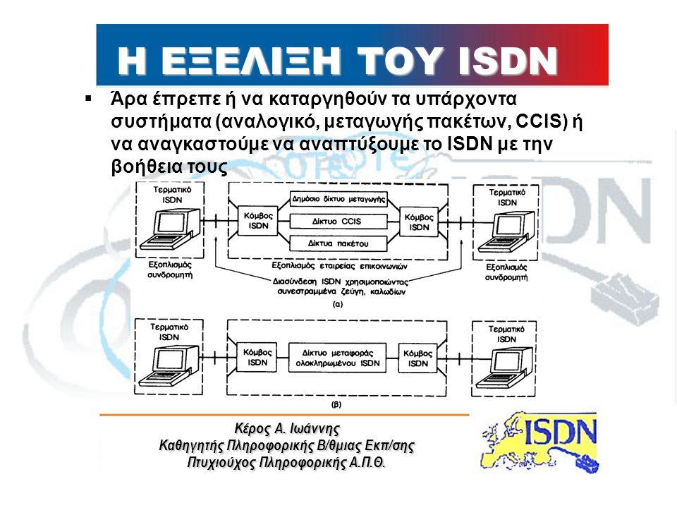 Η ΕΞΕΛΙΞΗ ΤΟΥ ISDN
