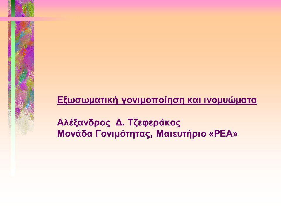 Εξωσωματική γονιμοποίηση και ινομυώματα Αλέξανδρος Δ