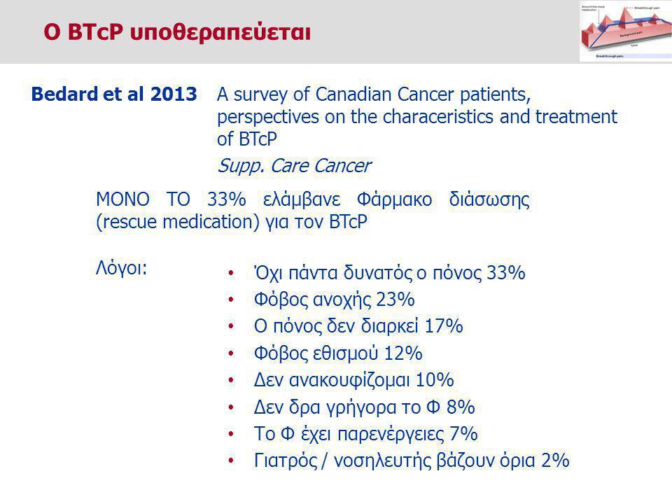 Ο BTcP υποθεραπεύεται Bedard et al 2013