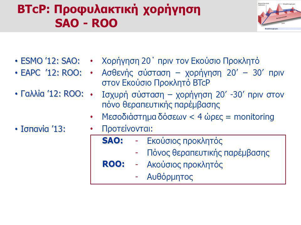 BTcP: Προφυλακτική χορήγηση SAO - ROO