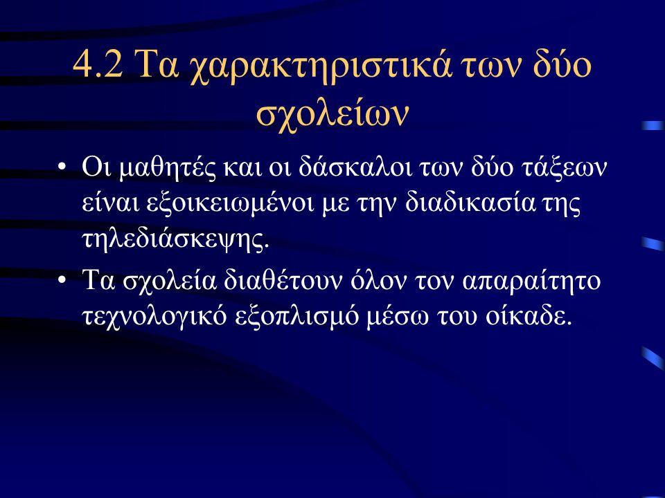 4.2 Τα χαρακτηριστικά των δύο σχολείων