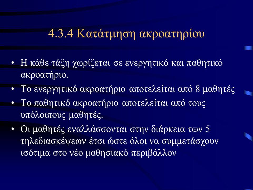 4.3.4 Κατάτμηση ακροατηρίου