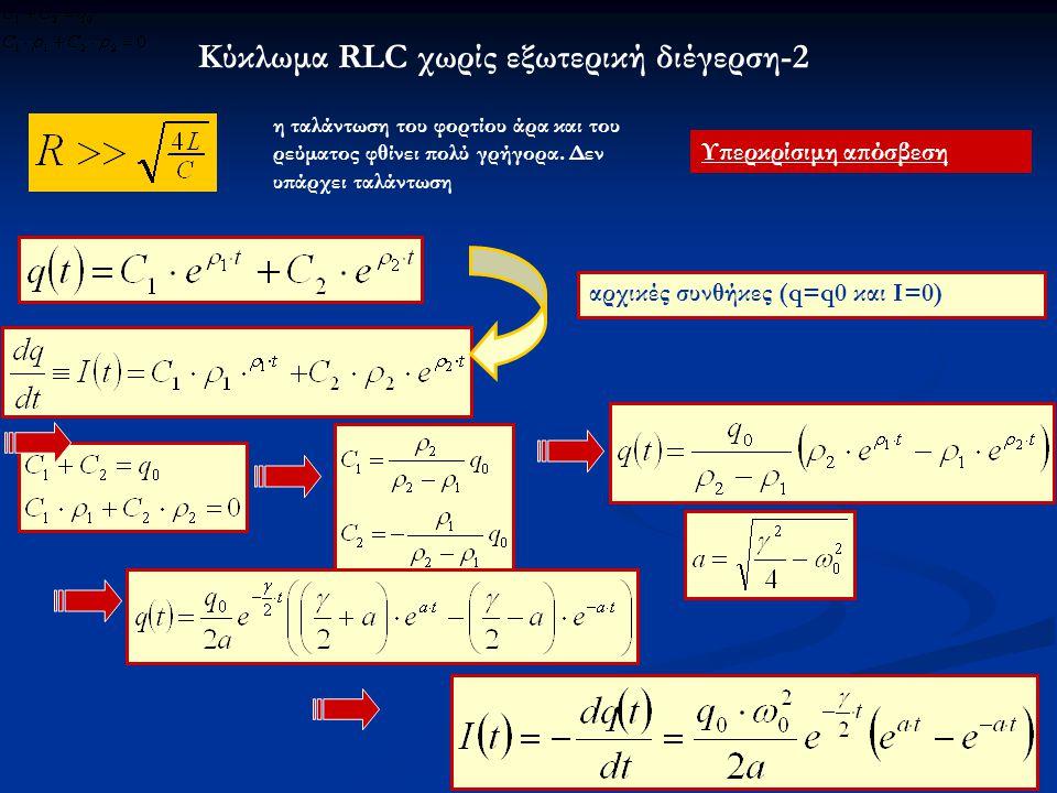 Κύκλωμα RLC χωρίς εξωτερική διέγερση-2