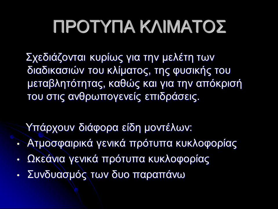 ΠΡΟΤΥΠΑ ΚΛΙΜΑΤΟΣ