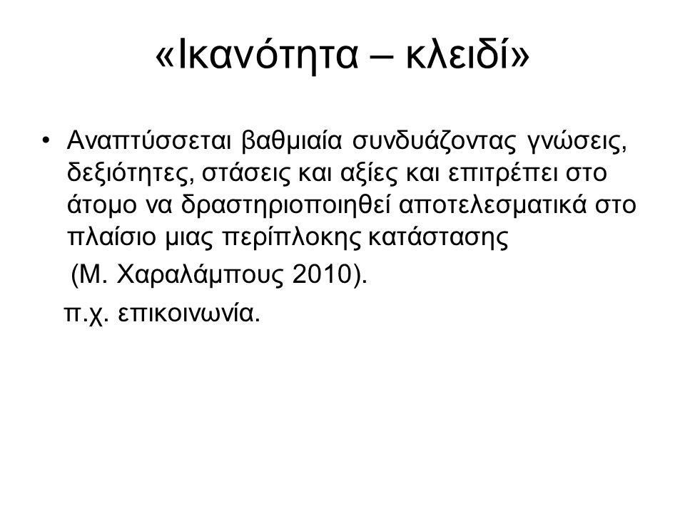 «Ικανότητα – κλειδί»