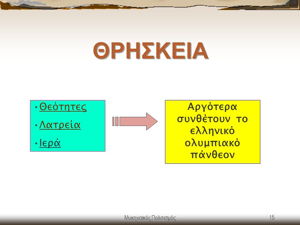 Αργότερα συνθέτουν το ελληνικό ολυμπιακό πάνθεον