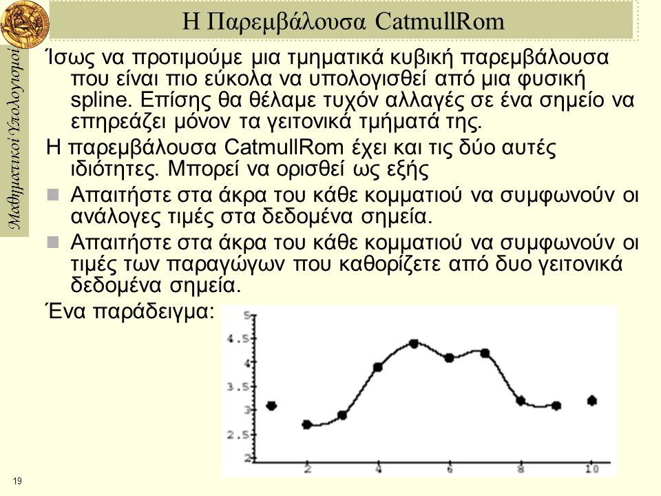 Η Παρεμβάλουσα CatmullRom