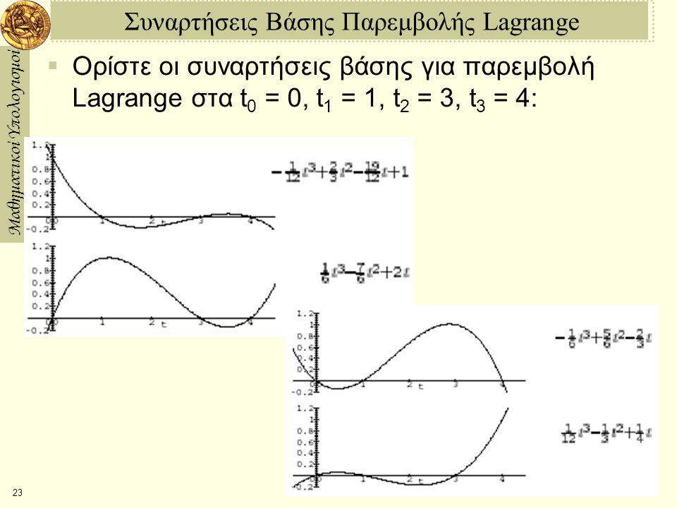 Συναρτήσεις Βάσης Παρεμβολής Lagrange