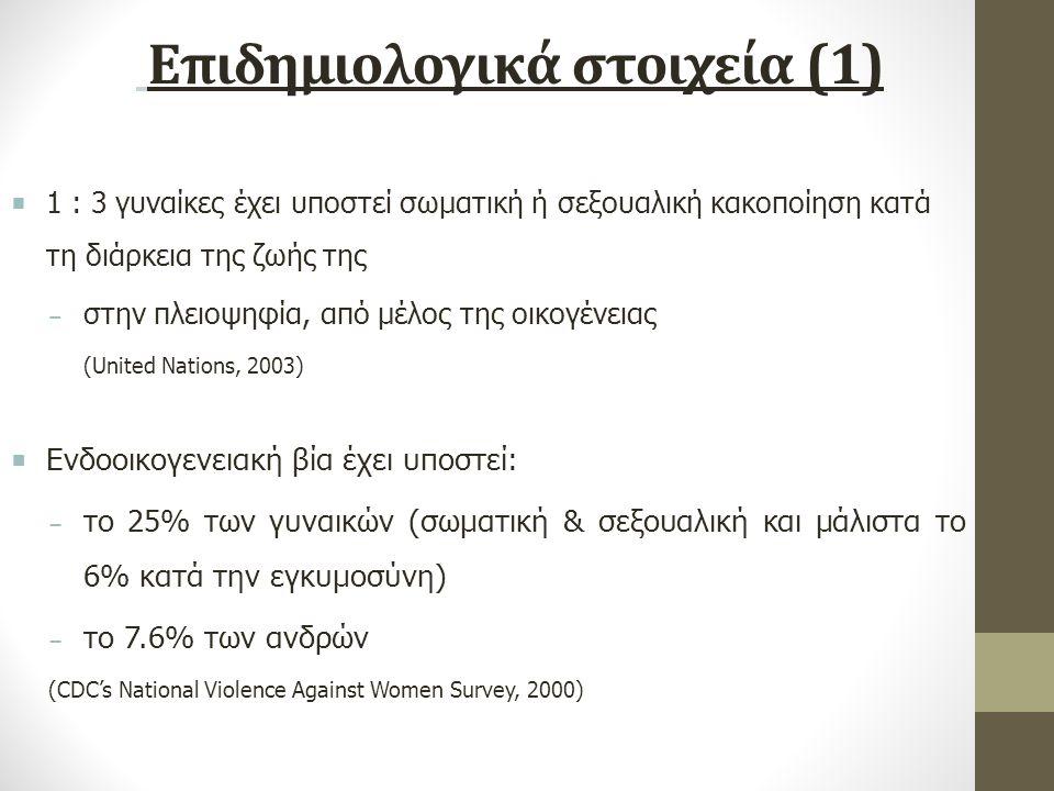 Επιδημιολογικά στοιχεία (1)