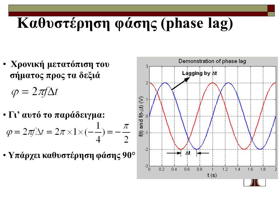 Καθυστέρηση φάσης (phase lag)