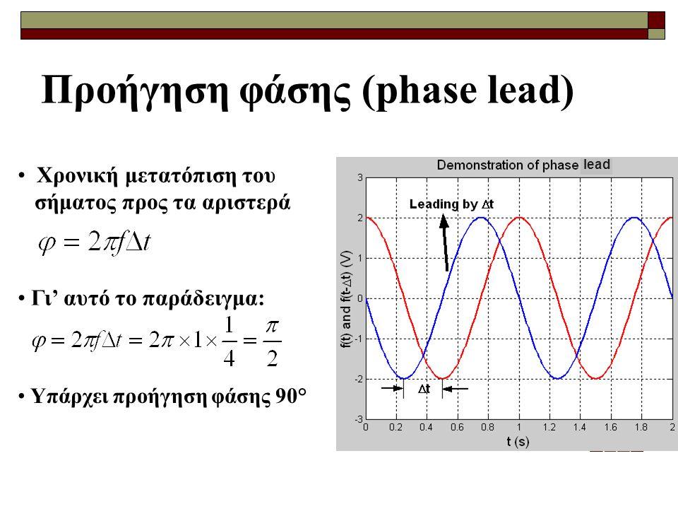 Προήγηση φάσης (phase lead)