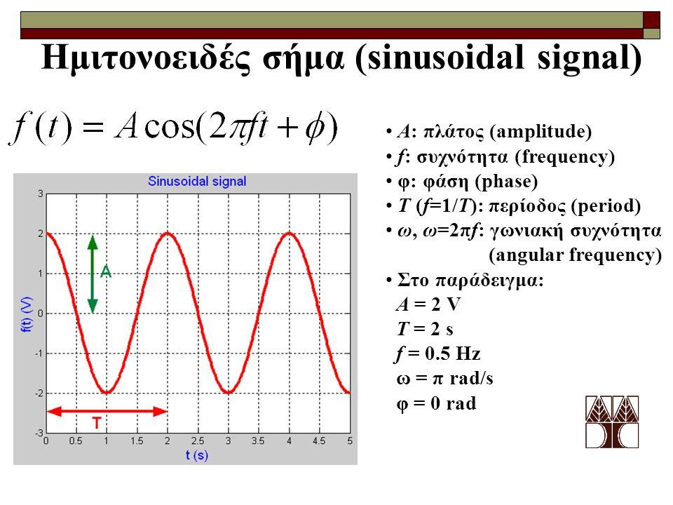 Ημιτονοειδές σήμα (sinusoidal signal)