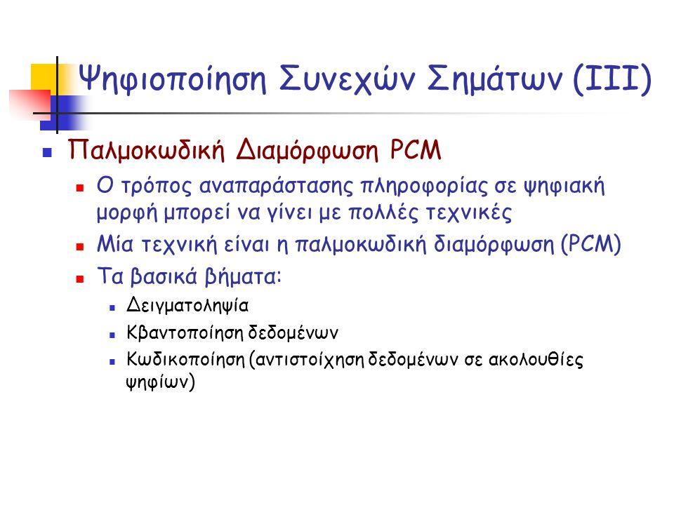 Ψηφιοποίηση Συνεχών Σημάτων (ΙΙΙ)