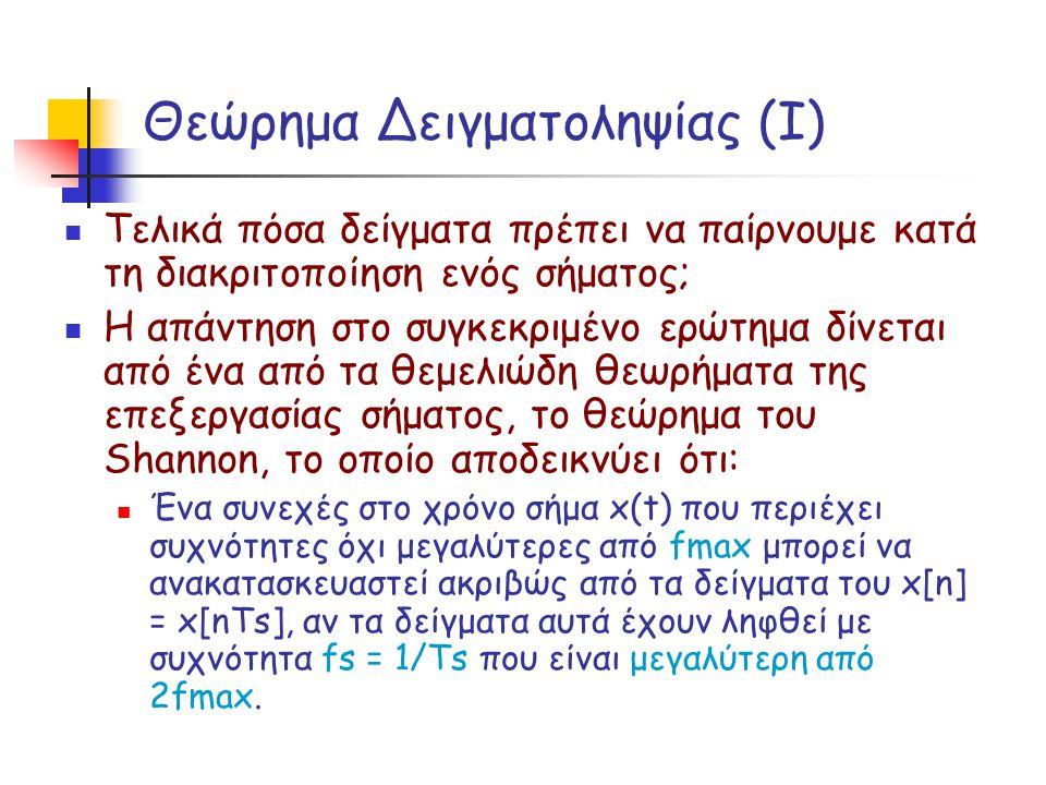 Θεώρημα Δειγματοληψίας (Ι)