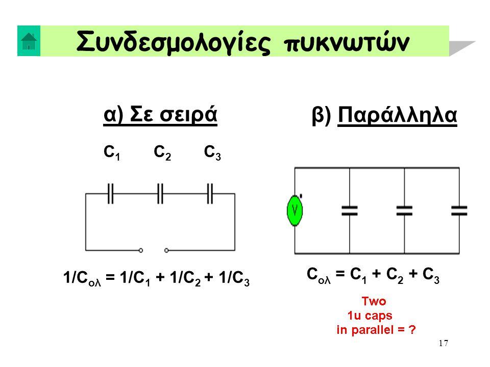 Συνδεσμολογίες πυκνωτών