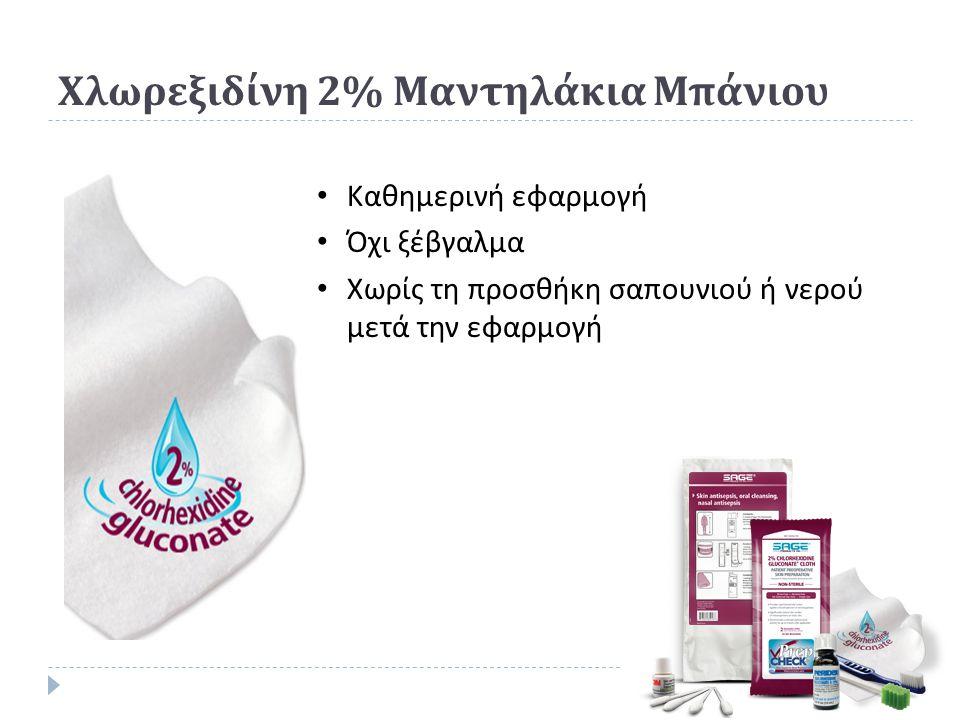 Χλωρεξιδίνη 2% Μαντηλάκια Μπάνιου
