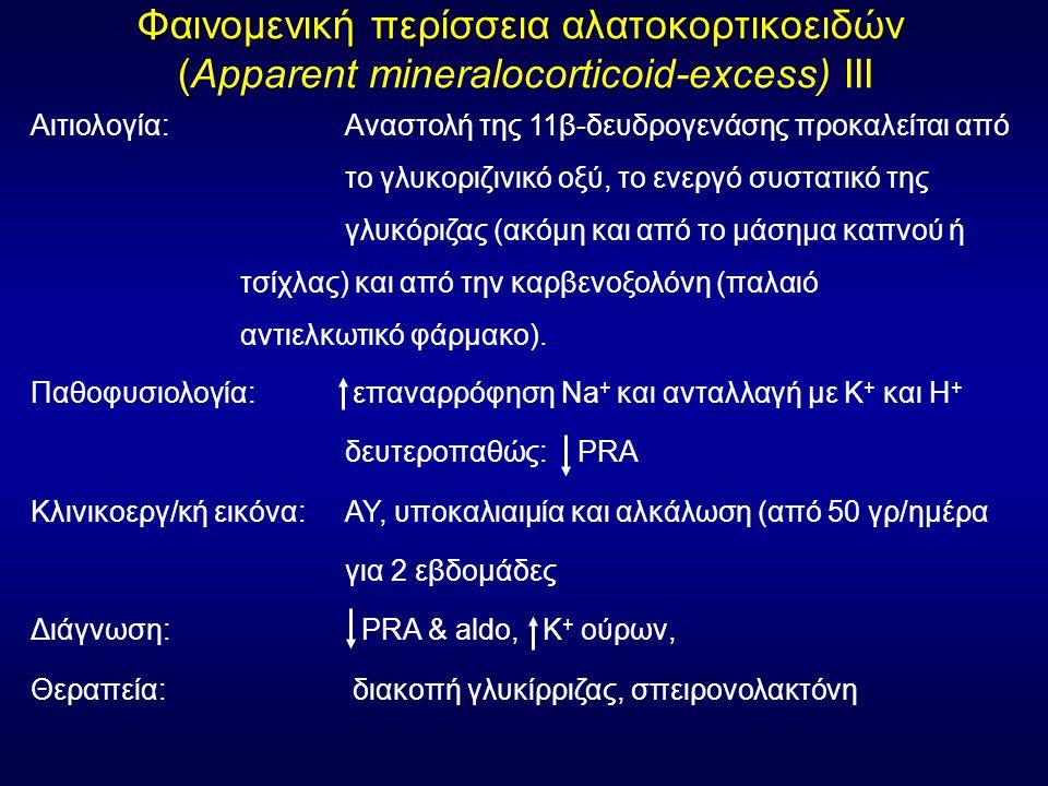 Φαινομενική περίσσεια αλατοκορτικοειδών (Apparent mineralocorticoid-excess) ΙΙΙ