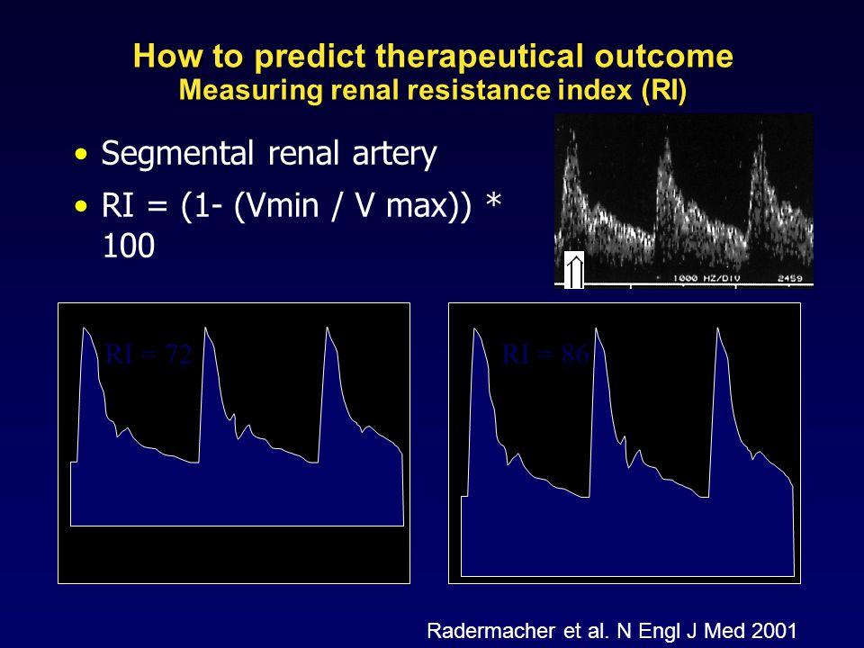 Segmental renal artery RI = (1- (Vmin / V max)) * 100