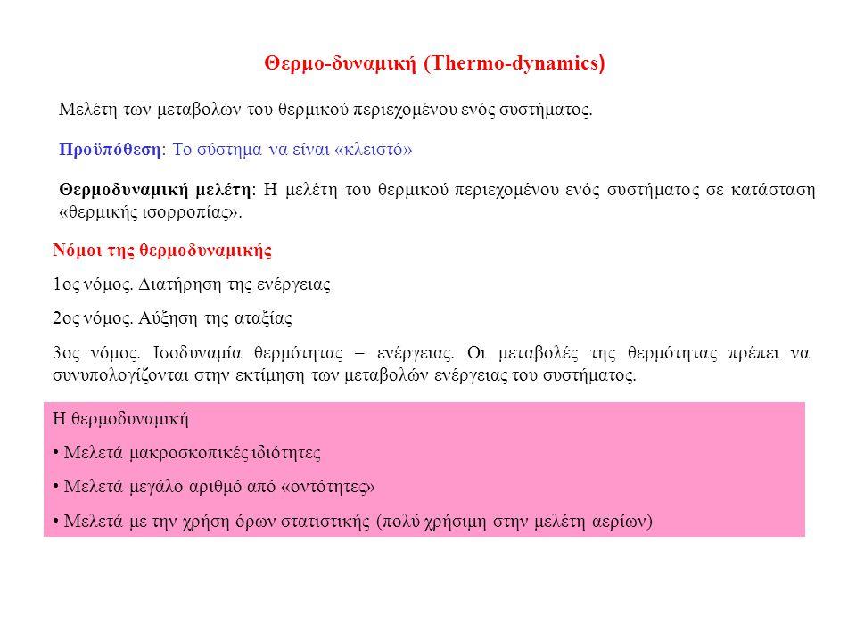 Θερμο-δυναμική (Thermo-dynamics)