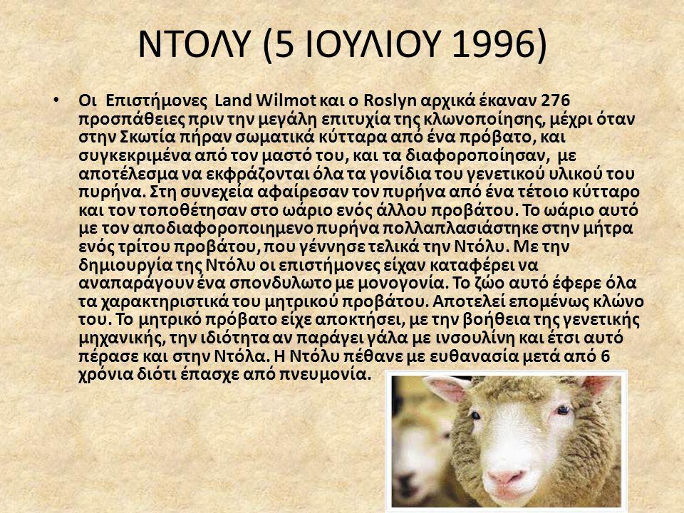 ΝΤΟΛΥ (5 ΙΟΥΛΙΟΥ 1996)
