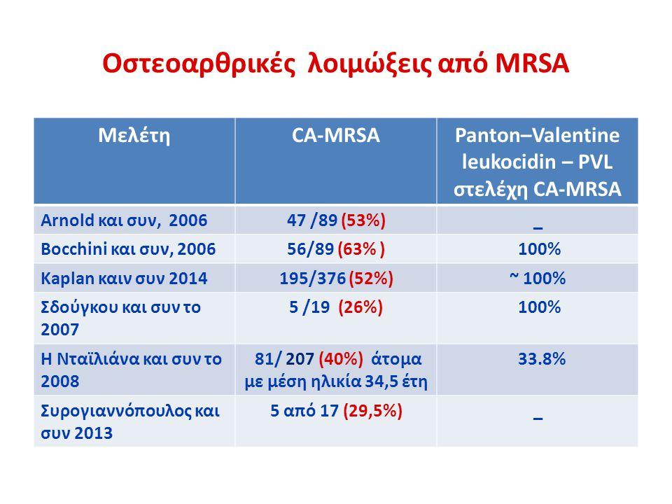 Oστεοαρθρικές λοιμώξεις από MRSA