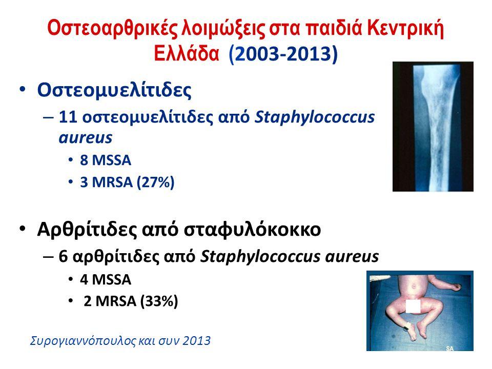 Οστεοαρθρικές λοιμώξεις στα παιδιά Κεντρική Ελλάδα (2003-2013)