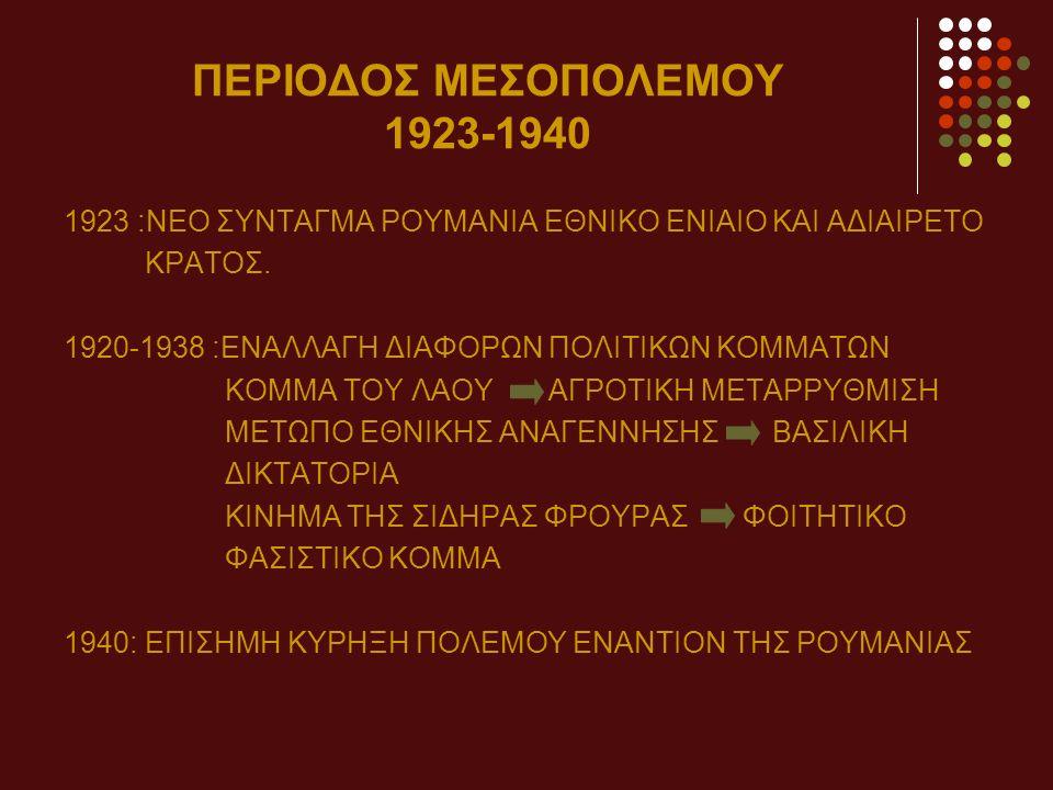 ΠΕΡΙΟΔΟΣ ΜΕΣΟΠΟΛΕΜΟΥ 1923-1940