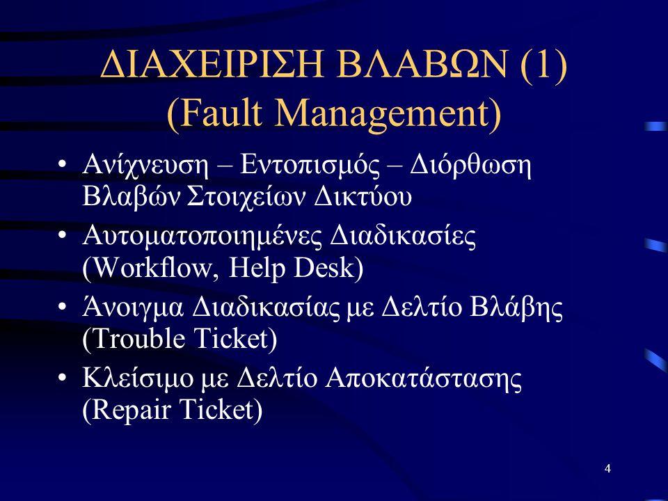 ΔΙΑΧΕΙΡΙΣΗ ΒΛΑΒΩΝ (1) (Fault Management)