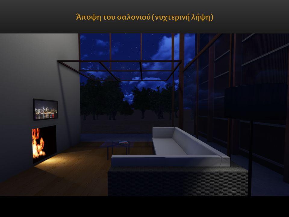 Άποψη του σαλονιού (νυχτερινή λήψη)
