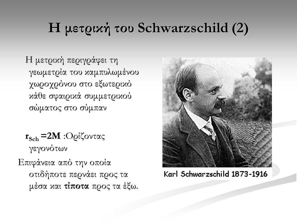 Η μετρική του Schwarzschild (2)