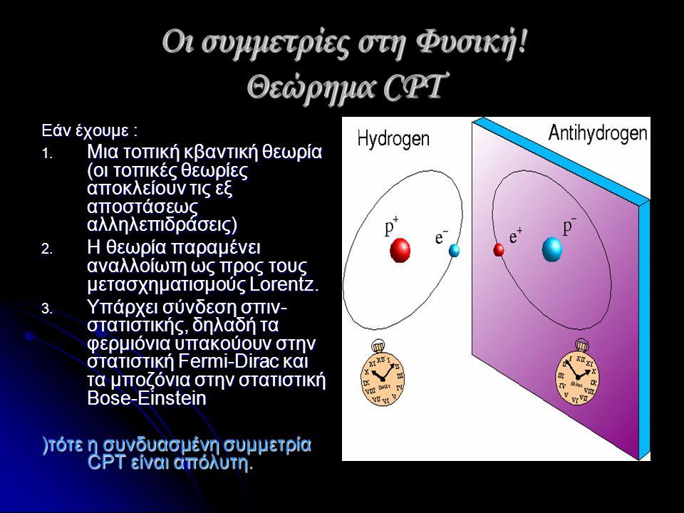 Οι συμμετρίες στη Φυσική! Θεώρημα CPT