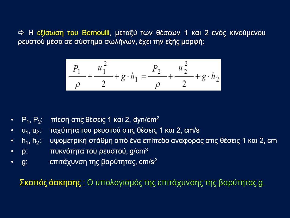 Σκοπός άσκησης : O υπολογισμός της επιτάχυνσης της βαρύτητας g.