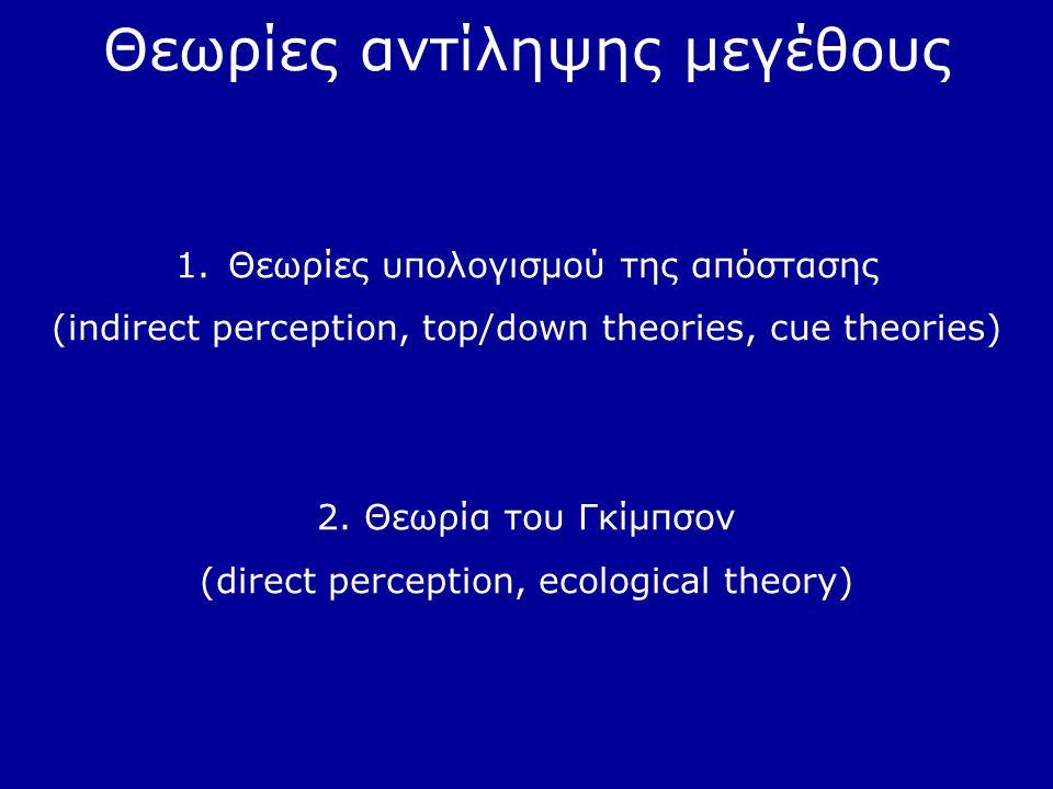 Θεωρίες αντίληψης μεγέθους