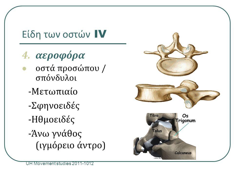 Είδη των οστών IV αεροφόρα -Μετωπιαίο -Σφηνοειδές -Ηθμοειδές