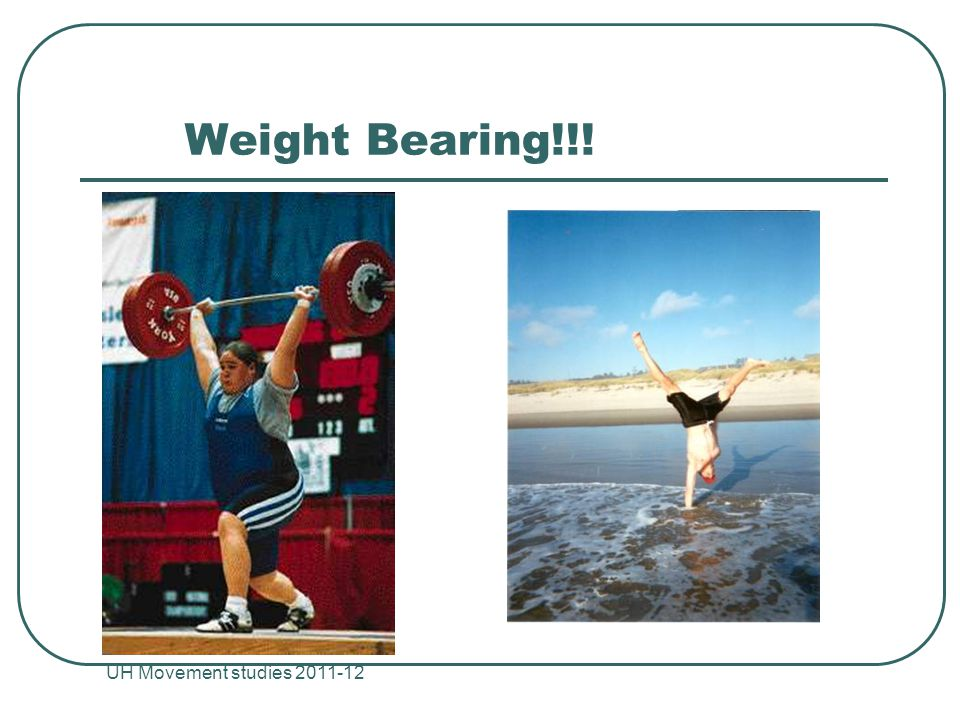 Weight Bearing!!! UH Movement studies 2011-12
