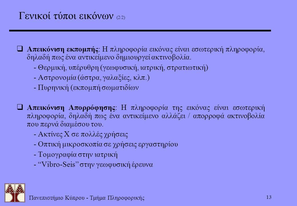 Γενικοί τύποι εικόνων (2/2)