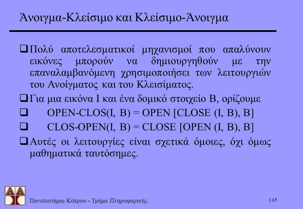 Άνοιγμα-Κλείσιμο και Κλείσιμο-Άνοιγμα