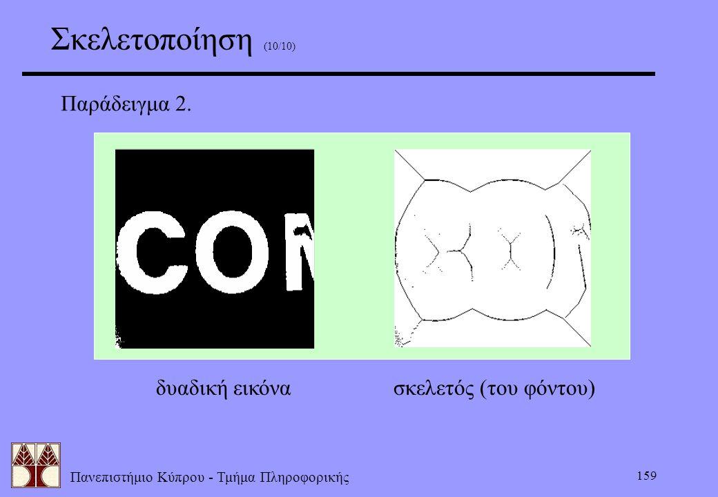 Σκελετοποίηση (10/10) Παράδειγμα 2. δυαδική εικόνα