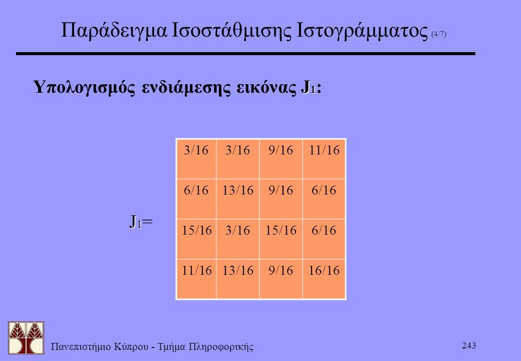 Παράδειγμα Ισοστάθμισης Ιστογράμματος (4/7)