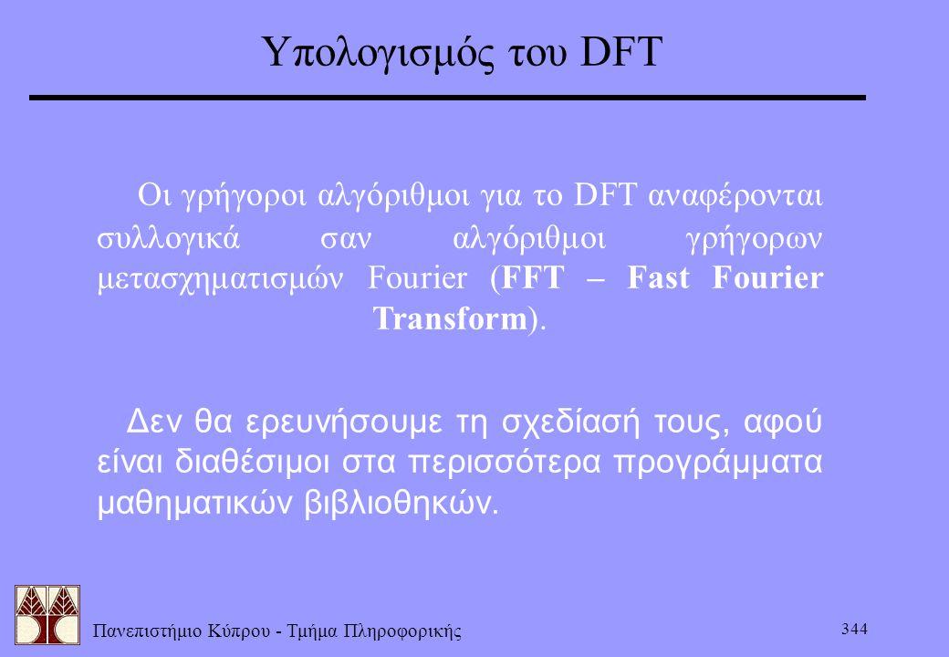 Υπολογισμός του DFT